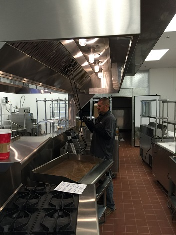 Commercial Kitchen Air Balancing and Testing hood