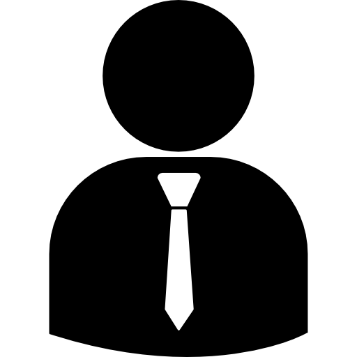 Man with a Tie vector image icon