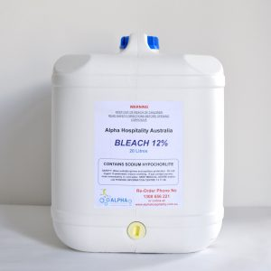 White 20 Litre Bleach Drum Bleach 12%