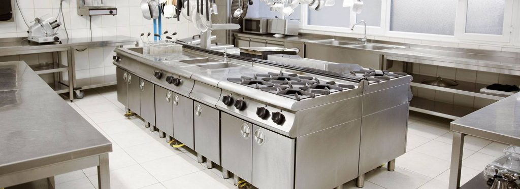 Commercial Kitchen stainless steel counter
